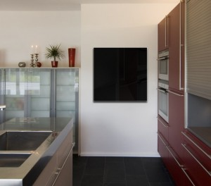 küche Glas Schwarz