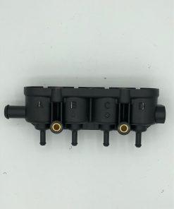 Autogas-LPG-Landirenzo-Ersatzteile-MED-Railhalter-4er-Gehäuse-mit-Sensorstutzen-1