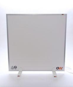 GlasWaermt-Infrarotheizung-Aluminium-IAP-450Watt-Weiss-600x600x20mm-Vorderseite