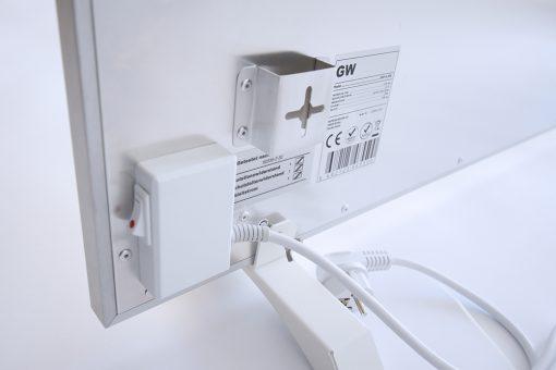 GlasWaermt-Infrarotheizung-Aluminium-IAP-550Watt-Weiss-1200x400x20mm-Detailansicht