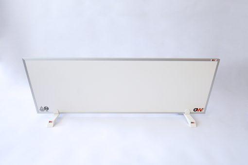GlasWaermt-Infrarotheizung-Aluminium-IAP-550Watt-Weiss-1200x400x20mm-Vorderseite