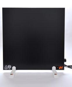 GlasWärmt-Infrarotheizung-Hybridboard-HB-schwarz-600Watt-600x600x40mm-Vorderseite
