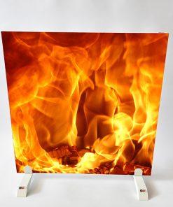 GlasWärmt-Infrarotheizung-Motiv-IMMP-450Watt-Flamme-600x600x25mm-Vorderseite