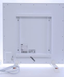 GlasWärmt-Infrarotheizung-Metall-IMP-weiß-450Watt-600x600x20mm-Rückseite